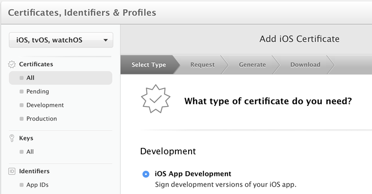 apple certificates